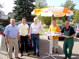 Wahlkampf in Crottendorf