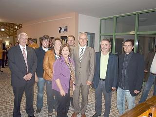 Vertreter der CDU-Ortsgruppe mit MP Stanislaw Tillich